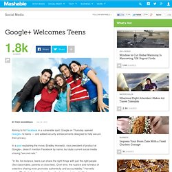 Google+ Welcomes Teens