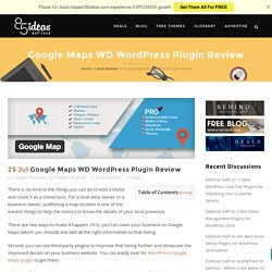 Google Maps WD WordPress Plugin Review - 85ideas.com