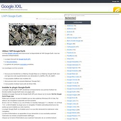 L'API Google Earth