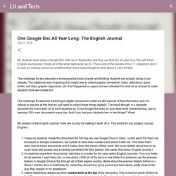 One Google Doc All Year Long: The English Journal