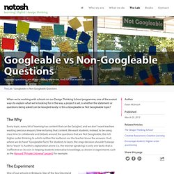 Googleable vs Non-Googleable Questions