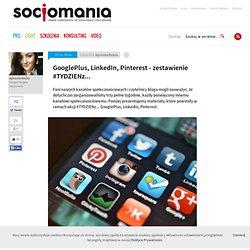 GooglePlus, LinkedIn, Pinterest - zestawienie #TYDZIENz... - Socjomania
