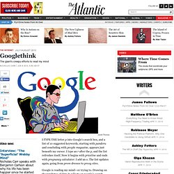 Googlethink - Nicholas Carr