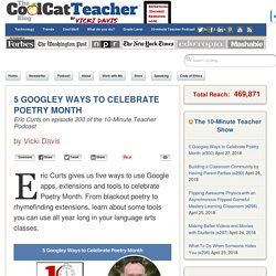 5 Googley Ways to Celebrate National Poetry Month with Eric Curts