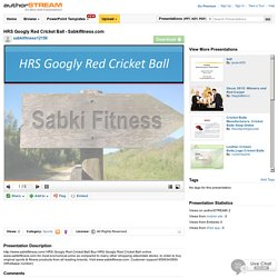 HRS Googly Red Cricket Ball - Sabkifitness.Com