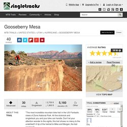 Gooseberry Mesa Mountain Bike Trail in Hurricane, Utah