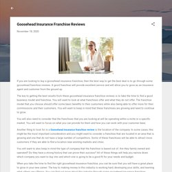 Goosehead Insurance Franchise Reviews