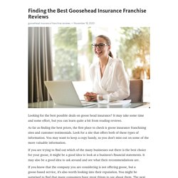 Finding the Best Goosehead Insurance Franchise Reviews