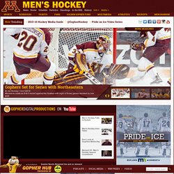 The Official Athletic Site of the Minnesota Gophers - Ice Hockey - GOPHERSPORTS.COM - The Official Athletic Site of the Minnesota Gophers