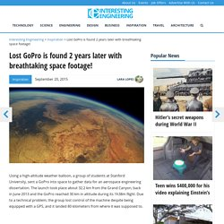 Lost GoPro is found 2 years later with breathtaking space footage!