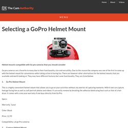 2014 GoPro Helmet Mount Review