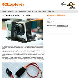 DIY GoPro3 video out cable