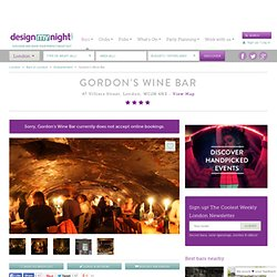 Gordons Wine Bar Villiers Street Bridge UK Menu London Reviews | DesignMyNight
