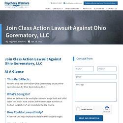 Class Action Lawsuit Against Ohio Gorematory