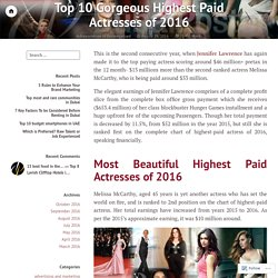 Top 10 Gorgeous Highest Paid Actresses of 2016 – DubaiPoster UAE
