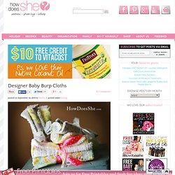 Gorgeous Designer Baby Burp Cloths