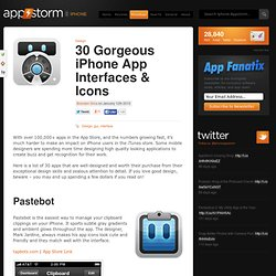 30 Gorgeous iPhone App Interfaces & Icons
