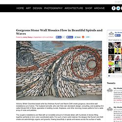 Gorgeous Stone Wall Mosaics Flow in Beautiful Spirals and Waves
