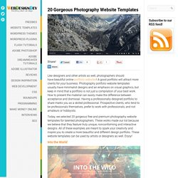 20 Gorgeous Photography Website Templates