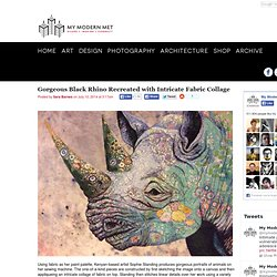 Gorgeous Black Rhino Recreated with Intricate Fabric Collage - My Modern Met