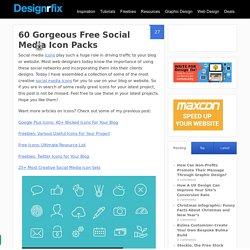 60 Gorgeous Free Social Media Icon Packs - designrfix.com