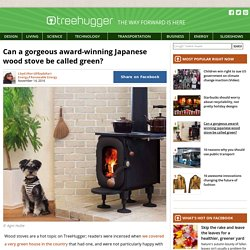 Can a gorgeous award-winning Japanese wood stove be called green?