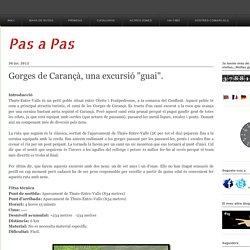 """Gorges de Carançà, una excursió """"guai""""."""