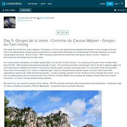 Day 5. Gorges de la Jonte - Corniche du Causse Méjean - Gorges-du-Tarn hiking: dos_caras