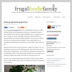 mini gorgonzola popovers.
