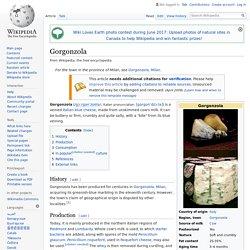 Gorgonzola - Wikipedia