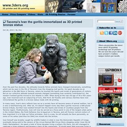 Tacoma's Ivan the gorilla immortalized as 3D printed bronze statue
