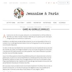 Gare au Gorille - Restaurant paris 17