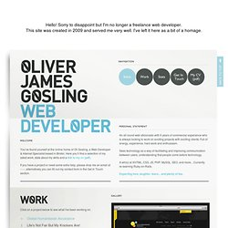 Oliver James Gosling - Freelance Web Developer