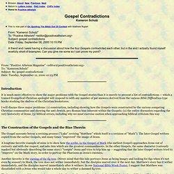 Gospel Contradictions Kameron Schulz (Reply) (9-00)