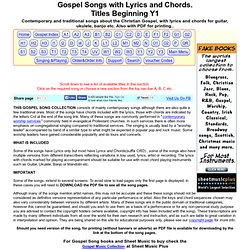 Gospel Songs with Lyrics and Chords. Titles Y1