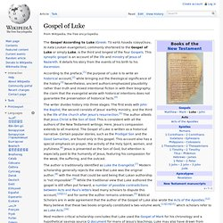 the gospel according to luke commonly shortened essay Gospel of luke analysis 660 words | 3 pages page 1 i chose the short story of from the gospel of luke- story of a lost son this captured my attention because it is a religious story from the bible.