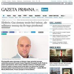 Elektrix: Gaz ziemny może być tańszy, ale odbiorcy muszą się do tego przekonać - Biznes i prawo gospodarcze - GazetaPrawna.pl - biznes, podatki, prawo, finanse, wiadomości, praca -