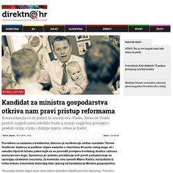 Direktno.hr: Kandidat za ministra gospodarstva otkriva nam pravi pristup reformama