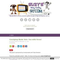 Gossiping Birds Tote- fun with Neon!
