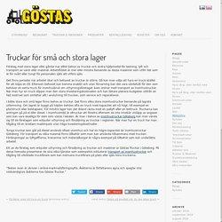 Truckar för små och stora lager - Göstas Truckuthyrning