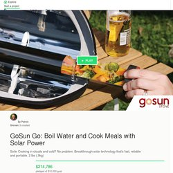 GoSun Go: Boil Water and Cook Meals with Solar Power by Patrick Sherwin