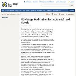 Göteborgs Stad skriver helt nytt avtal med Google - Göteborgs Stad