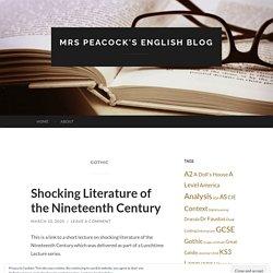 Mrs Peacock's English Blog