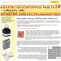 More Gothic Writing: Capital Gothic Letters A-Z