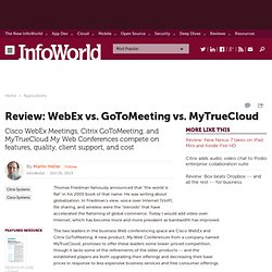 Web conferencing shootout: WebEx vs. GoToMeeting vs. MyTrueCloud