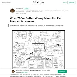 What We've Gotten Wrong About the Fail Forward Movement