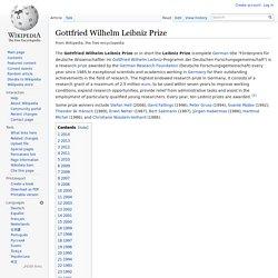 Gottfried Wilhelm Leibniz Prize
