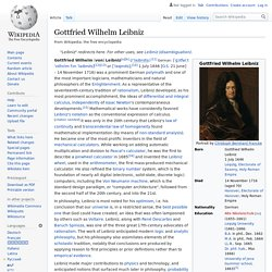 Gottfried Wilhelm Leibniz - Wikipedia