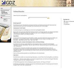 Göttinger Digitalisierungszentrum: Schnellsuche