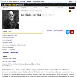 Gottlieb Daimler Biography